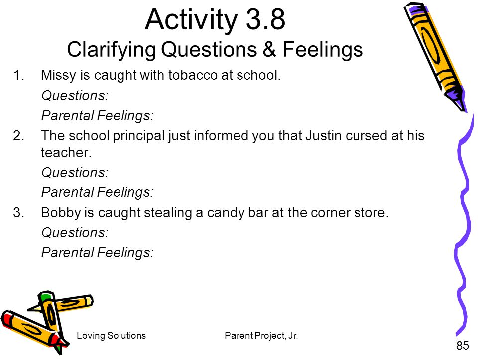 Activity 3.8 Clarifying Questions & Feelings