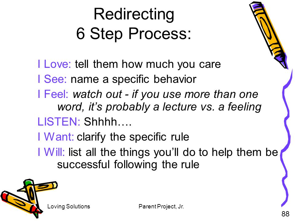 Redirecting 6 Step Process:
