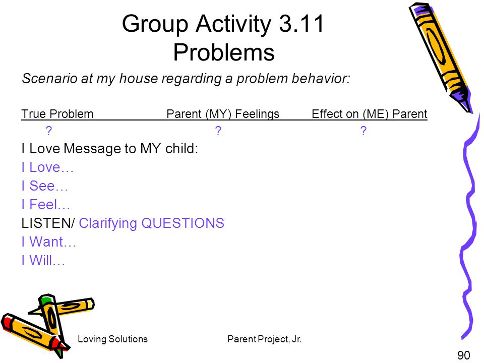 Group Activity 3.11 Problems
