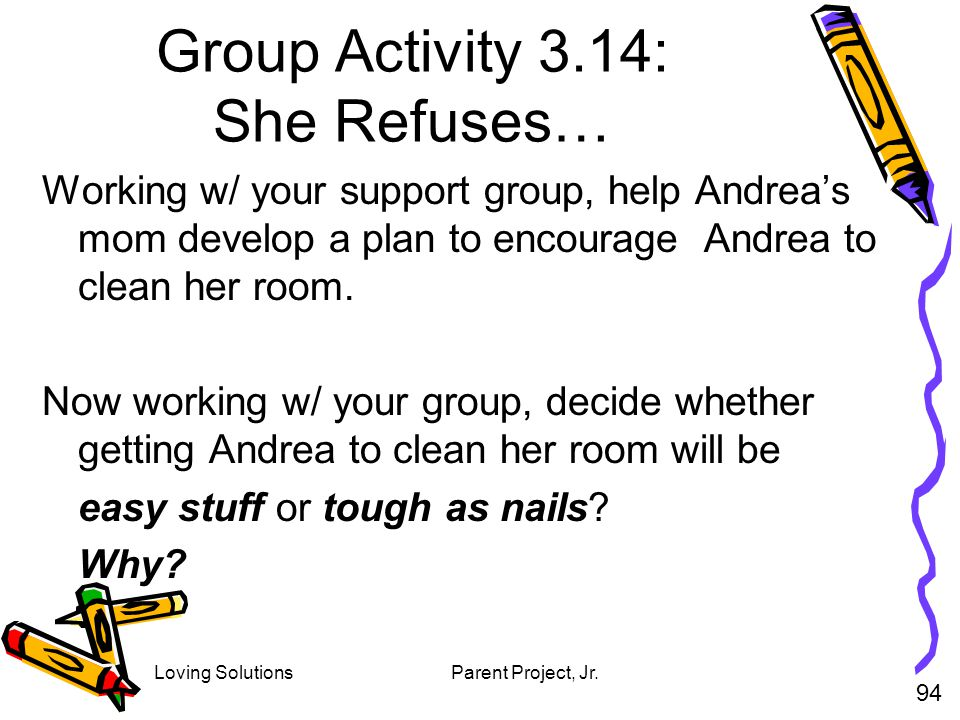 Group Activity 3.14: She Refuses…