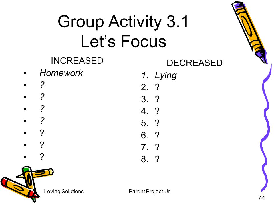 Group Activity 3.1 Let's Focus