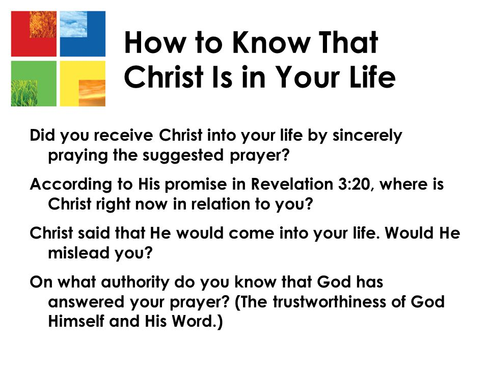 How to Know That Christ Is in Your Life