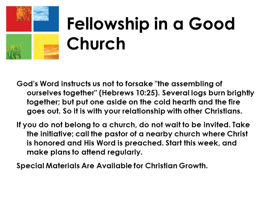 Fellowship in a Good Church