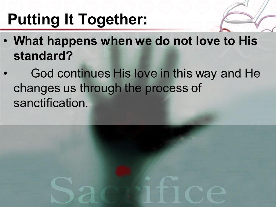 Putting It Together: What happens when we do not love to His standard