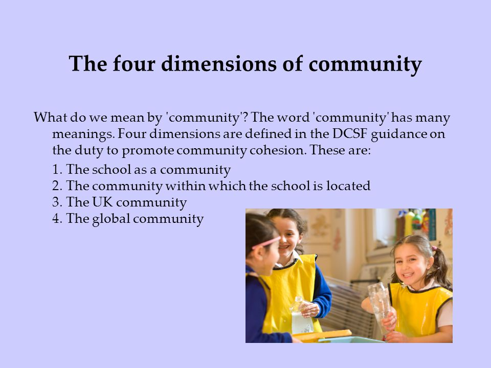 The four dimensions of community