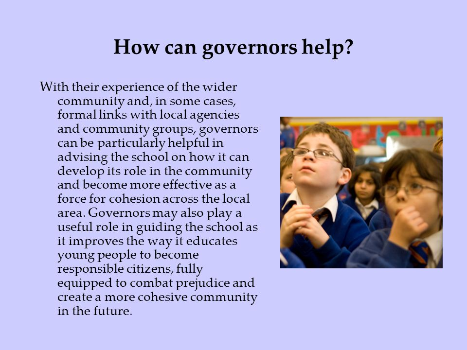 How can governors help