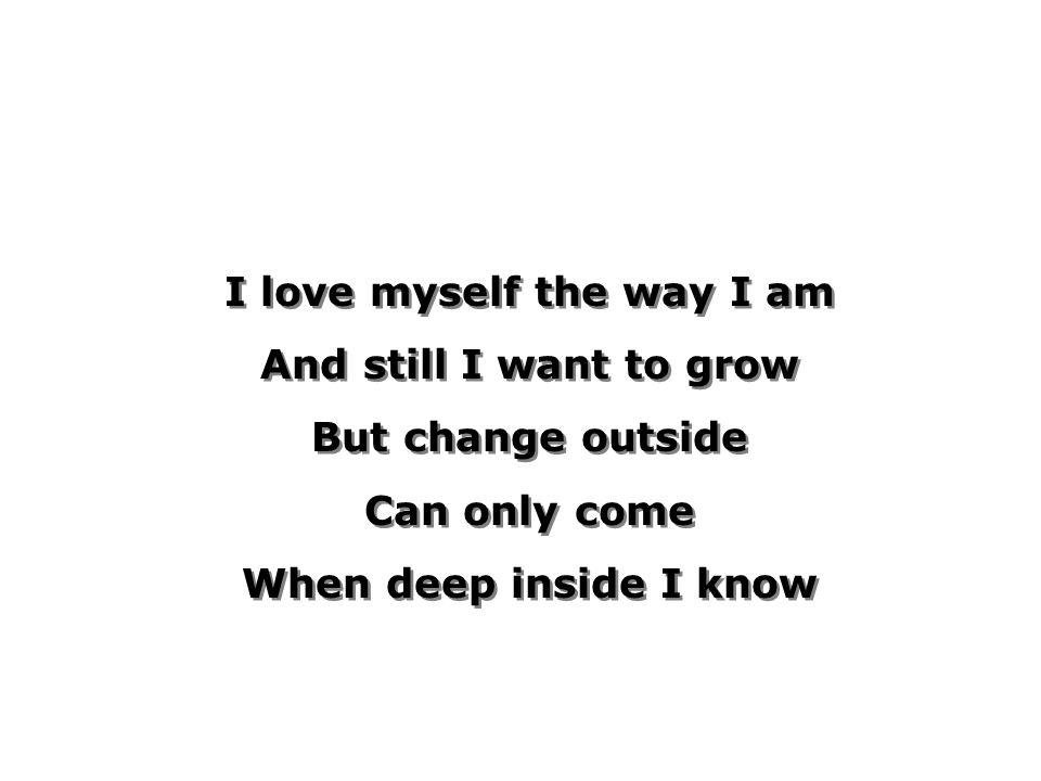 i want to love myself
