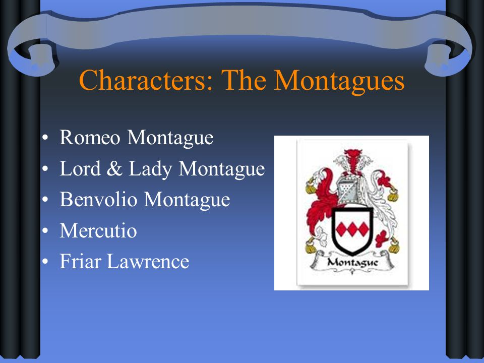Characters: The Montagues