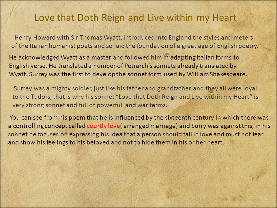 love that doth reign and live within my thought