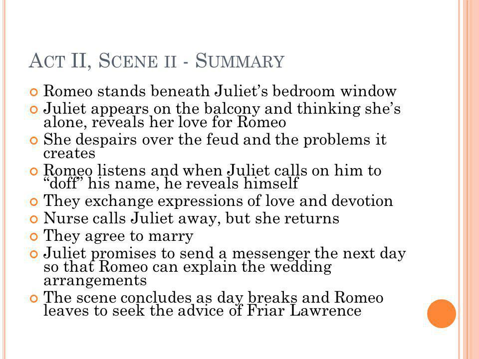 balcony scene summary