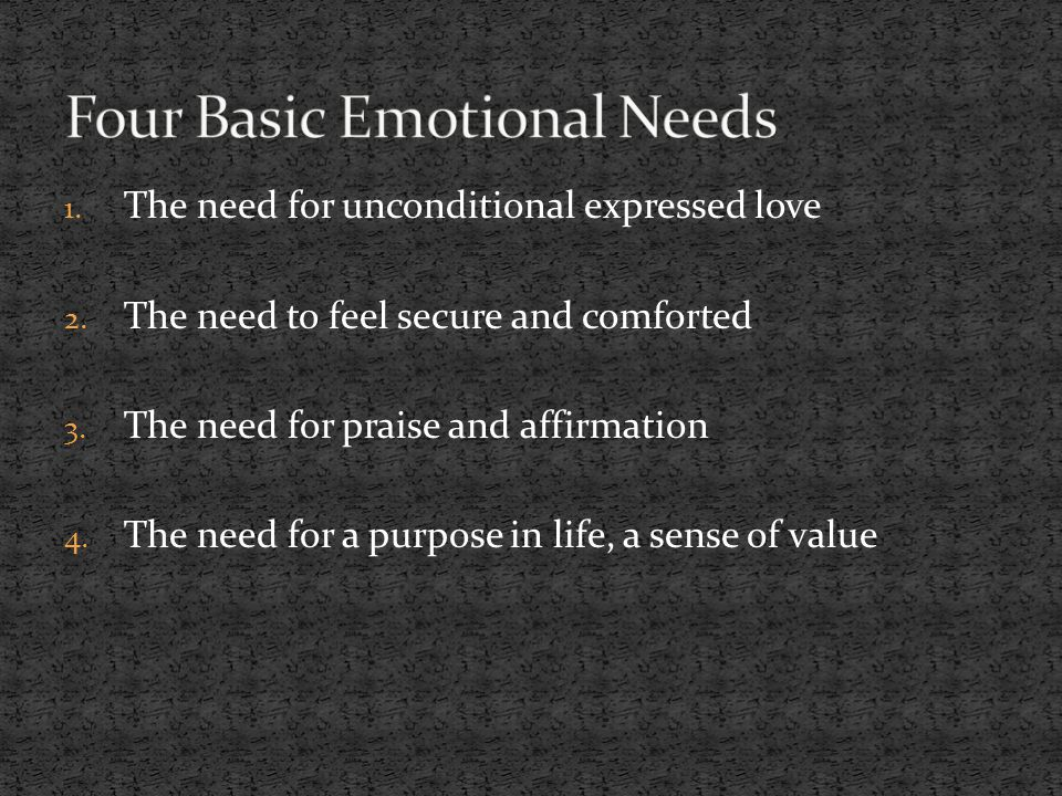 Four Basic Emotional Needs