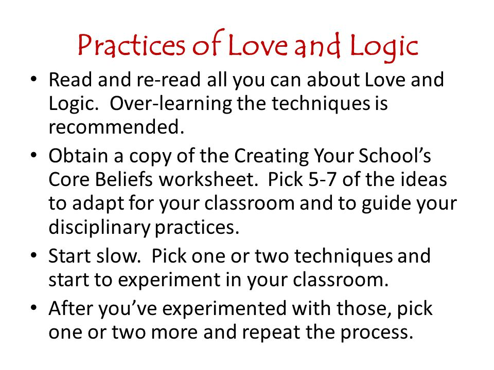 Practices of Love and Logic