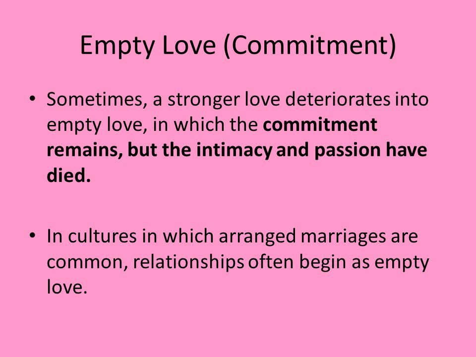 Empty Love (Commitment)