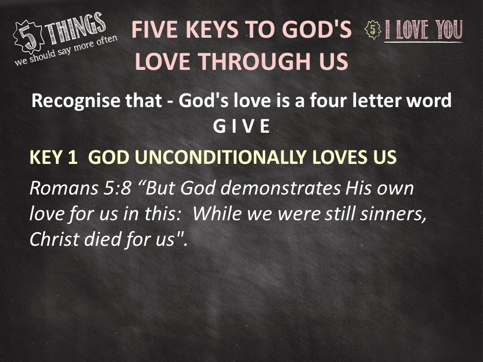 Five Keys To S Love Through Us