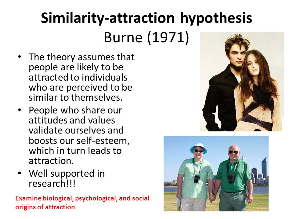 Similarity-attraction hypothesis Burne (1971)