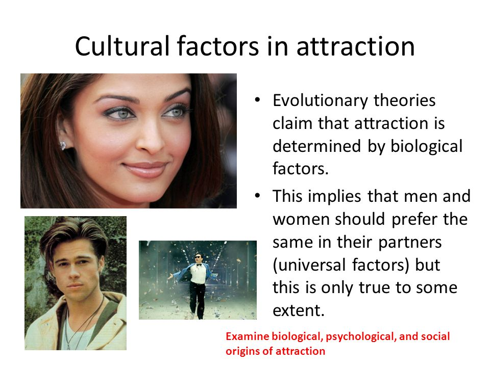Cultural factors in attraction