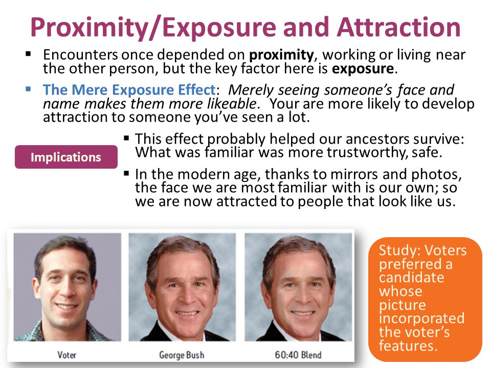 Proximity/Exposure and Attraction