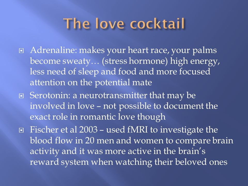 The love cocktail
