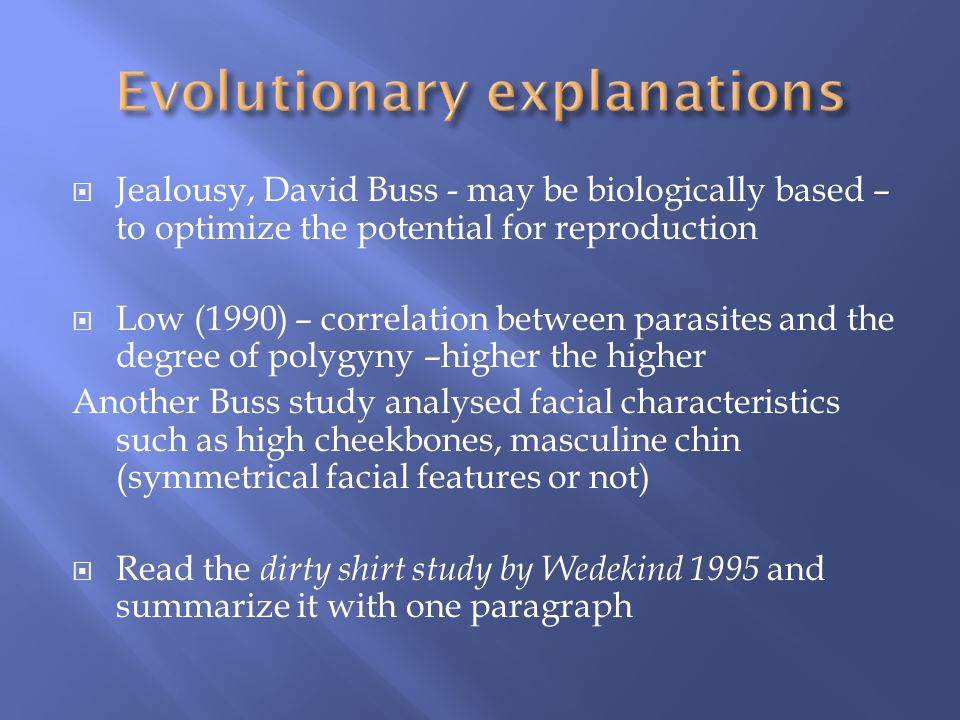 Evolutionary explanations