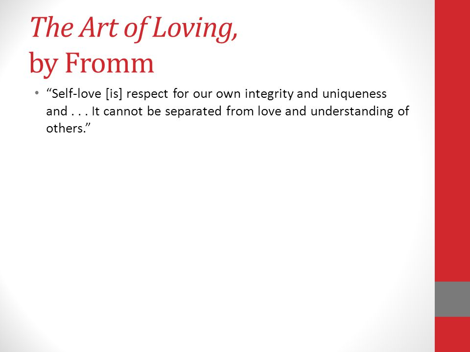 The Art of Loving, by Fromm