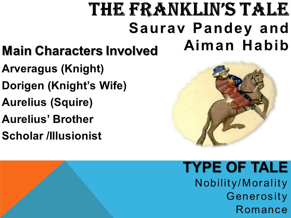 THE FRANKLIN's TALE TYPE OF TALE Saurav Pandey and Aiman Habib