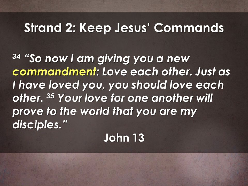 Strand 2: Keep Jesus' Commands