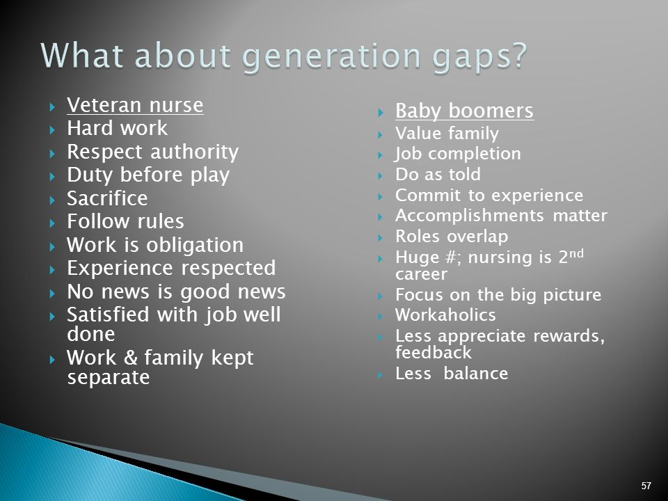 What about generation gaps
