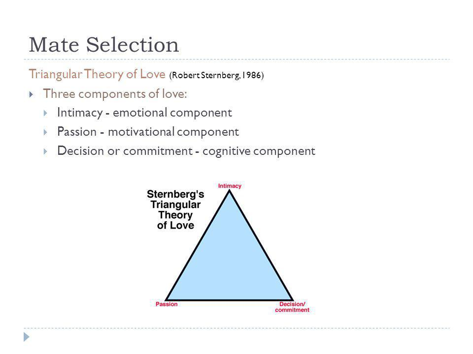 Mate Selection Triangular Theory of Love (Robert Sternberg, 1986)