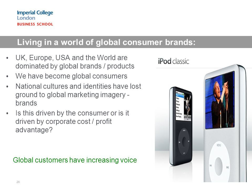 Living in a world of global consumer brands: