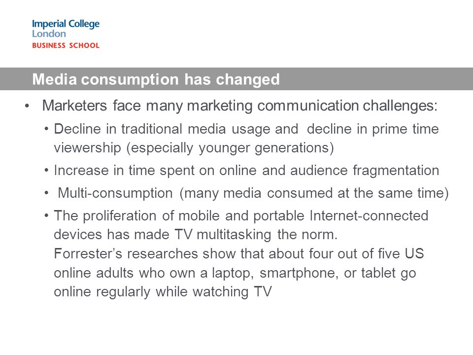 Media consumption has changed