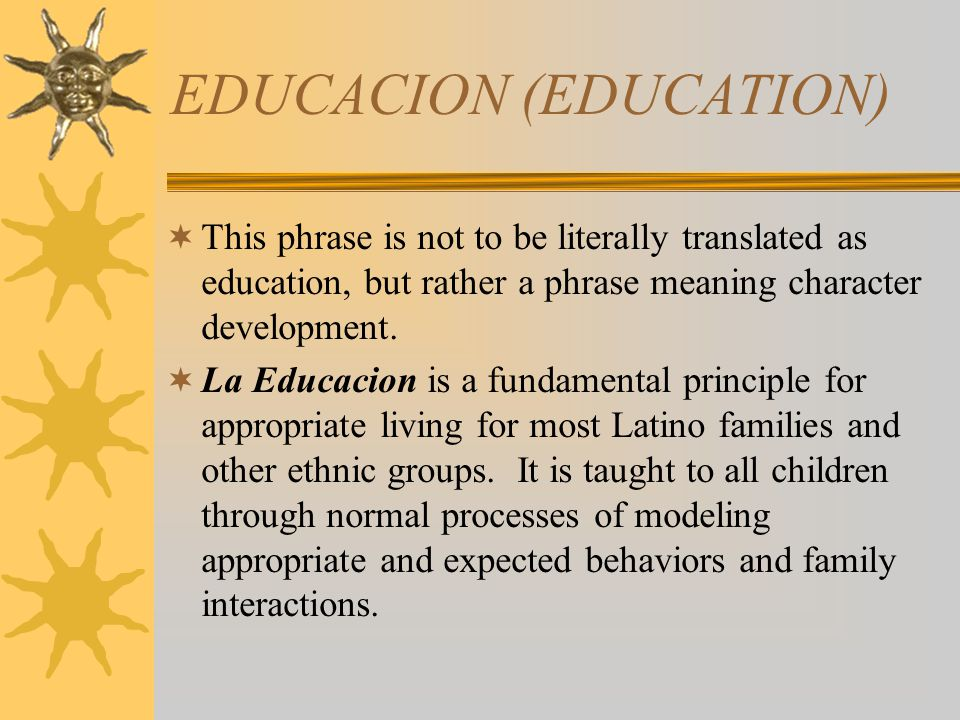 EDUCACION (EDUCATION)