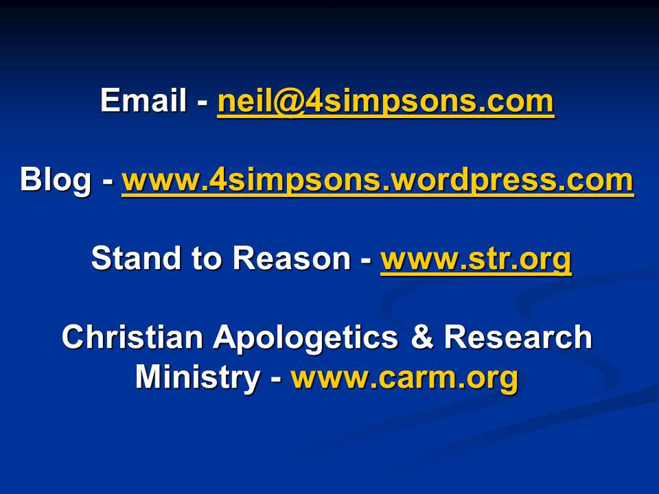Email - neil@4simpsons. com Blog - www. 4simpsons. wordpress