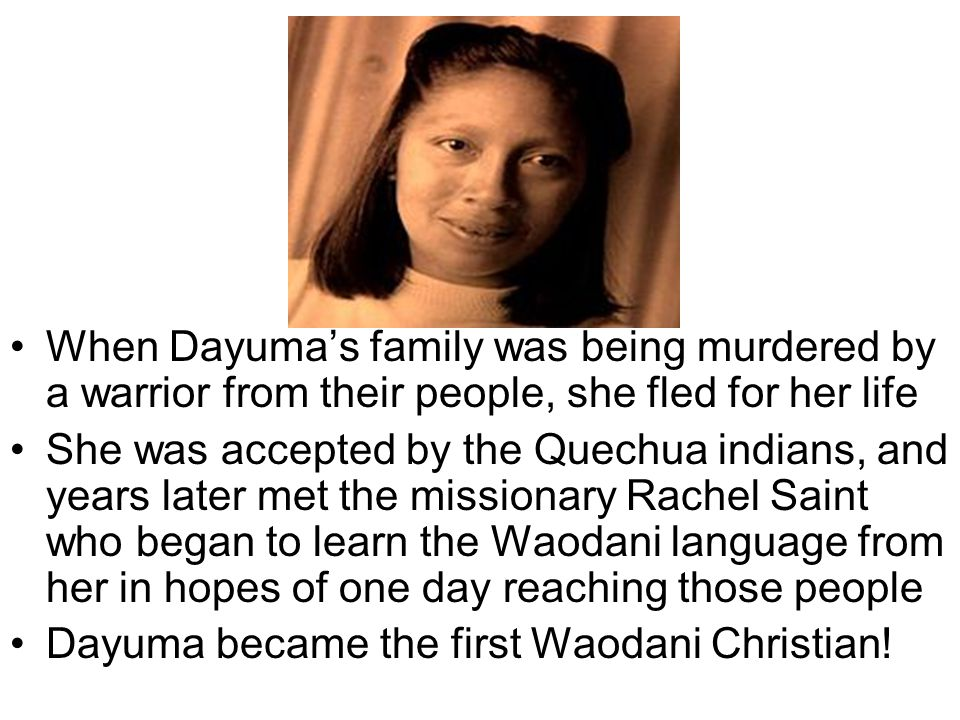 When Dayuma's family was being murdered by a warrior from their people, she fled for her life