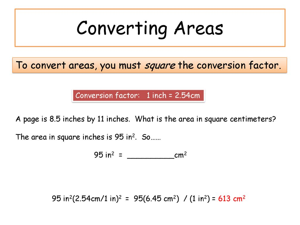 Conversions Converting From One System