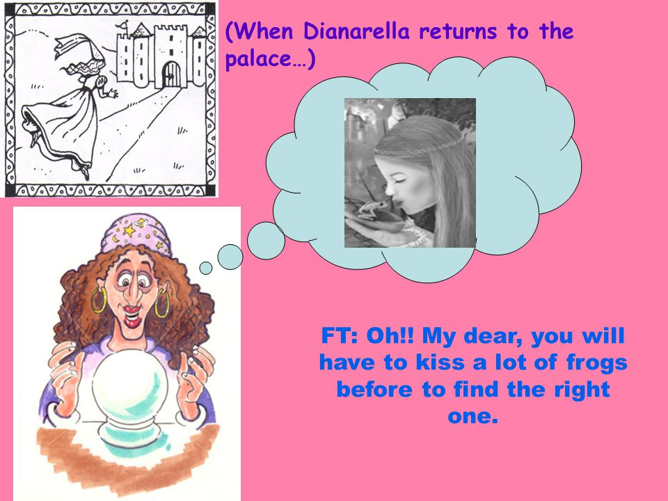 (When Dianarella returns to the palace…)