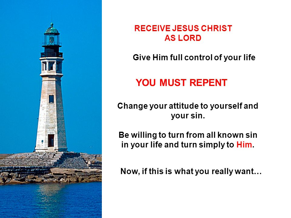 RECEIVE JESUS CHRIST AS LORD