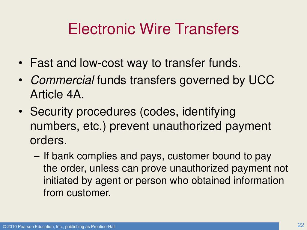 Electronic Wire Transfers