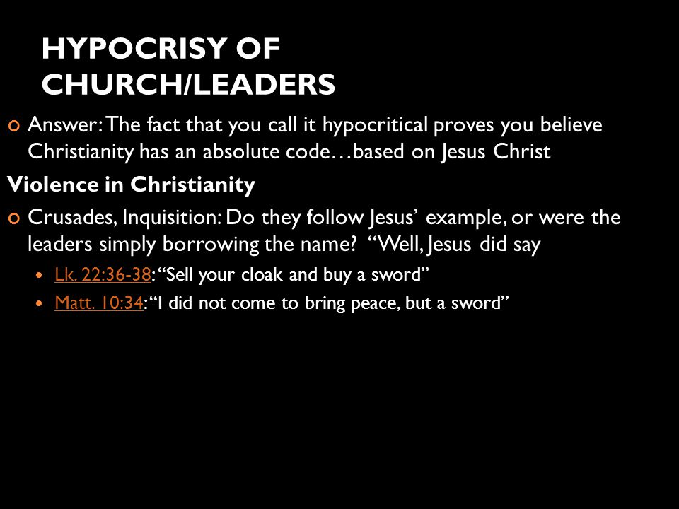 HYPOCRISY OF CHURCH/LEADERS