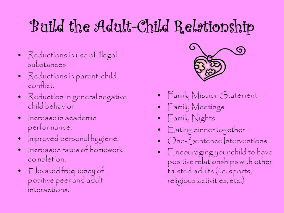 Build the Adult-Child Relationship