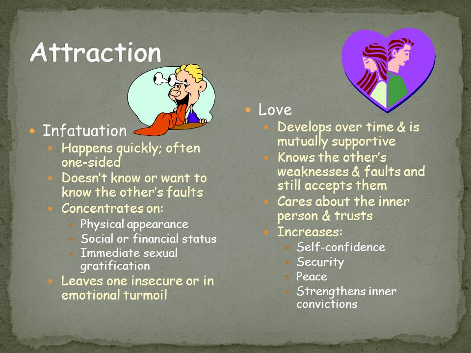 Attraction Love Infatuation