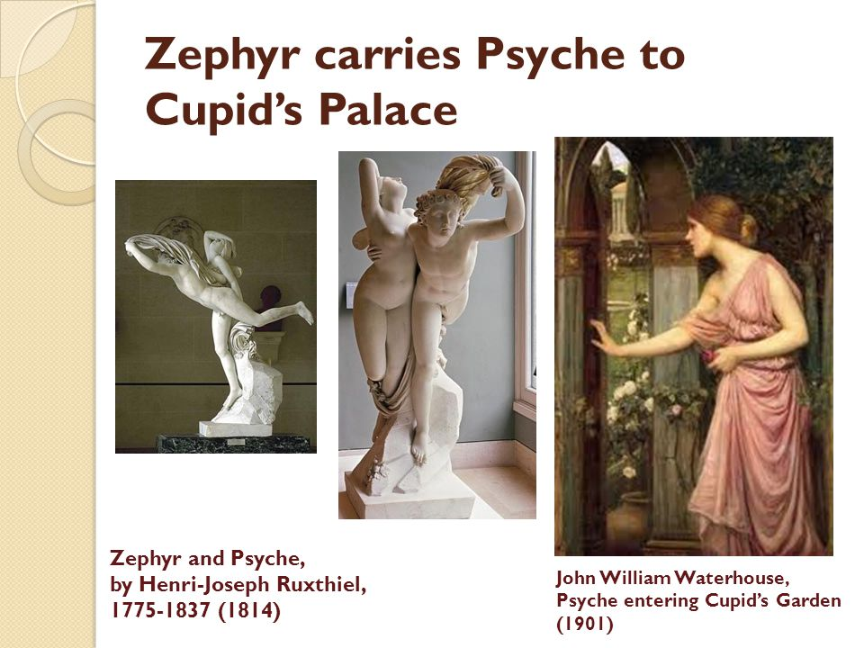 Zephyr carries Psyche to Cupid's Palace