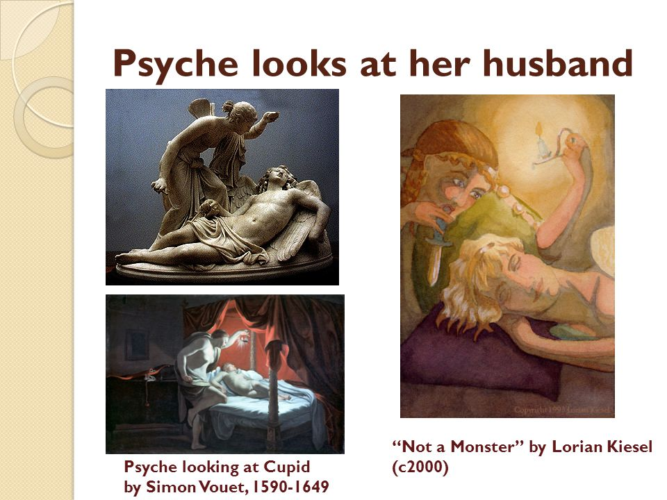 Psyche looks at her husband