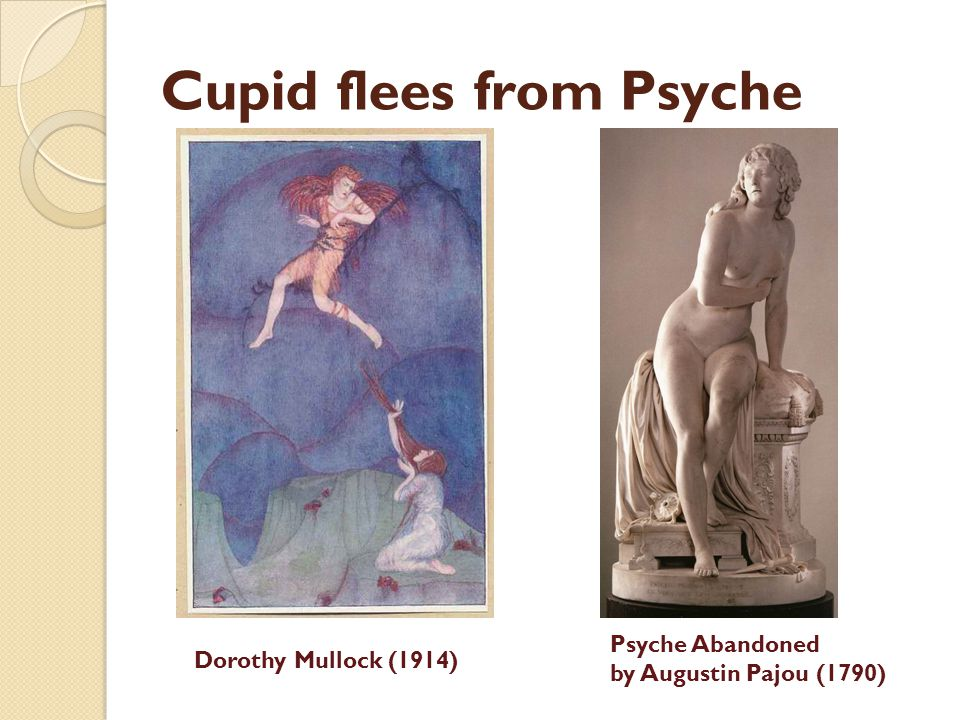 Cupid flees from Psyche