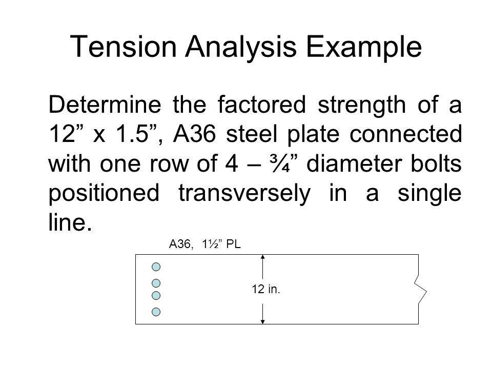 Design of Steel Tension Members - ppt video online download