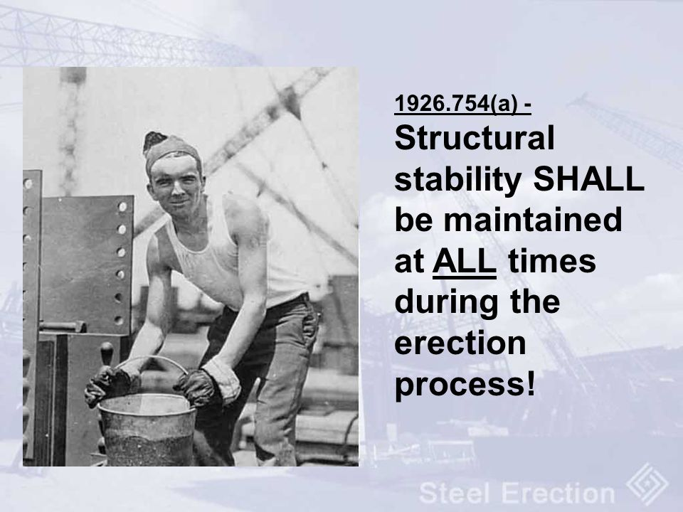 Steel Erection Osha S First Negotiated Rule Ppt Download