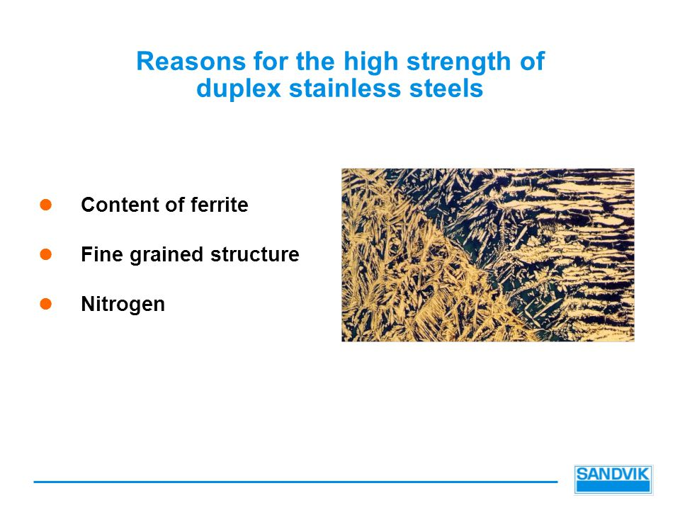 Reasons for the high strength of duplex stainless steels