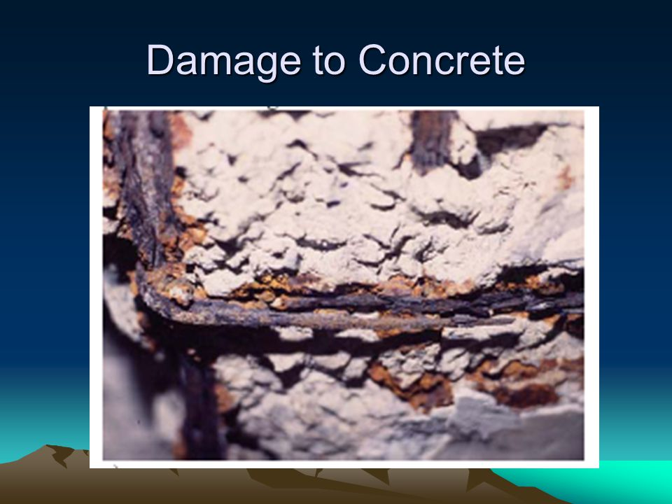 Damage to Concrete