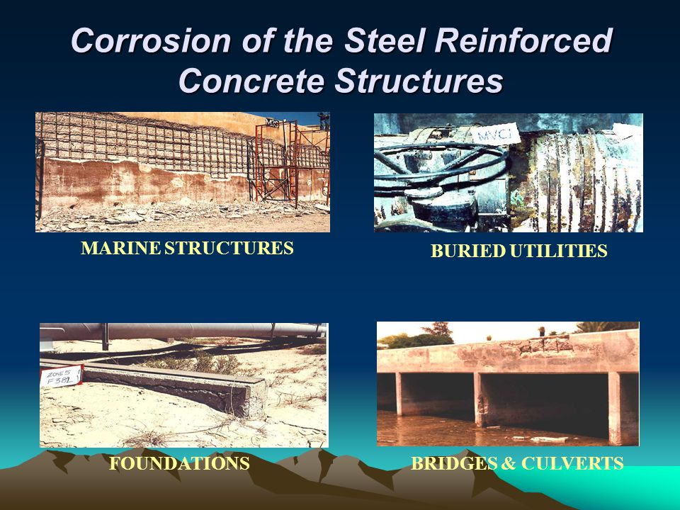 Corrosion of the Steel Reinforced Concrete Structures