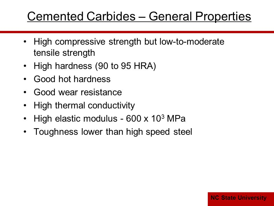 Cemented Carbides – General Properties