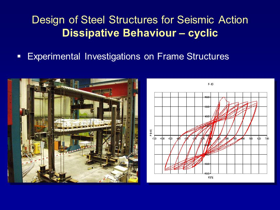 Design of Steel Structures for Seismic Action Dissipative Behaviour – cyclic